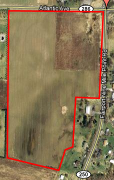 Ariel View of Penfield Property